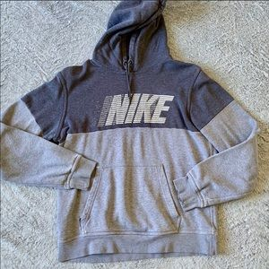 Men's Nike Gray Hoodie Sweatshirt Size Medium